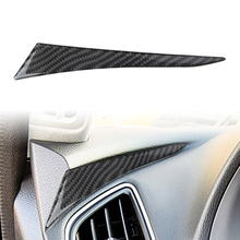 Carbon Fiber Car Interior Left Dashboard Sticker Cover For Infiniti Q50 Q60 2014 2015 2016 2017 2018 2019