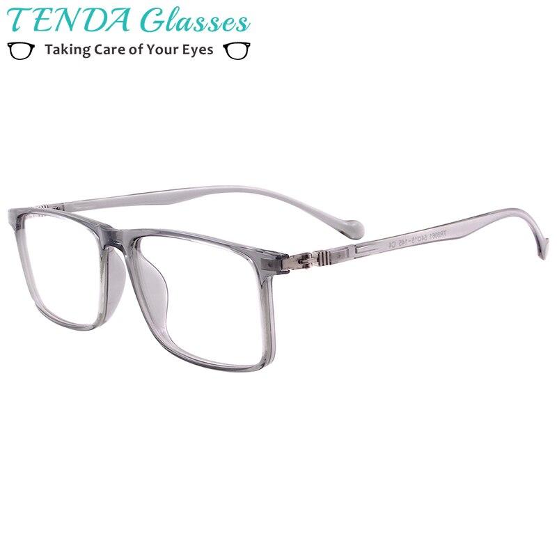 Men Women Lightweight Plastic Flexible TR90 Glasses Frame Full Rim Rectangular Spectacles For Myopia Reading Lenses