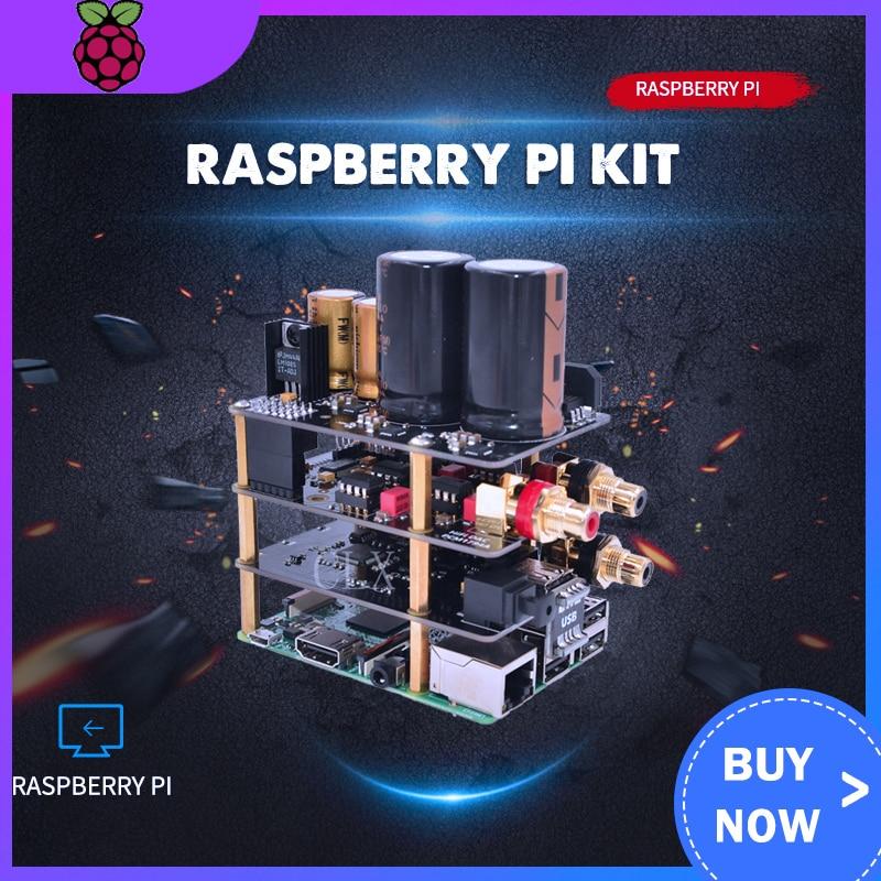 Raspberry Pi Kit X10 Hifi Audio Kit-B X10 DAC Expansion Board + X10-PWR Power Supply Board + X10-I2S Board+ X10-RTR R-CORE