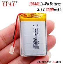цена на 3 line Liter energy battery 3.7V lithium polymer battery 103443 2500MAH game machine MP3 MP4 MP5 lithium battery GPS navigator