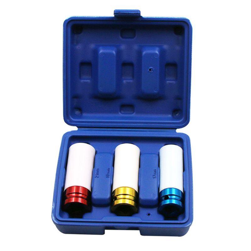 3 шт., тонкие настенные гайки для автомобиля, 1/2 дюйма, 17 мм, дюйма, 19 мм, дюйма, 21 мм, дюйма