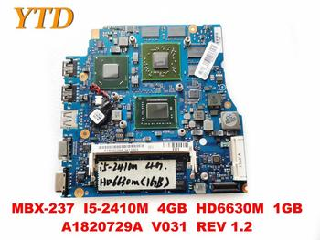 Original for SONY MBX-237 laptop motherboard MBX-237 I5-2410M 4GB HD6630M 1GB A1820729A V031 REV 1.2 tested good free sh image