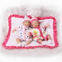 21cm 3/4 Silicone Reborn Baby Dolls Lifelike Mini Simulation baby Suitable for educational props dolls Bebes toy