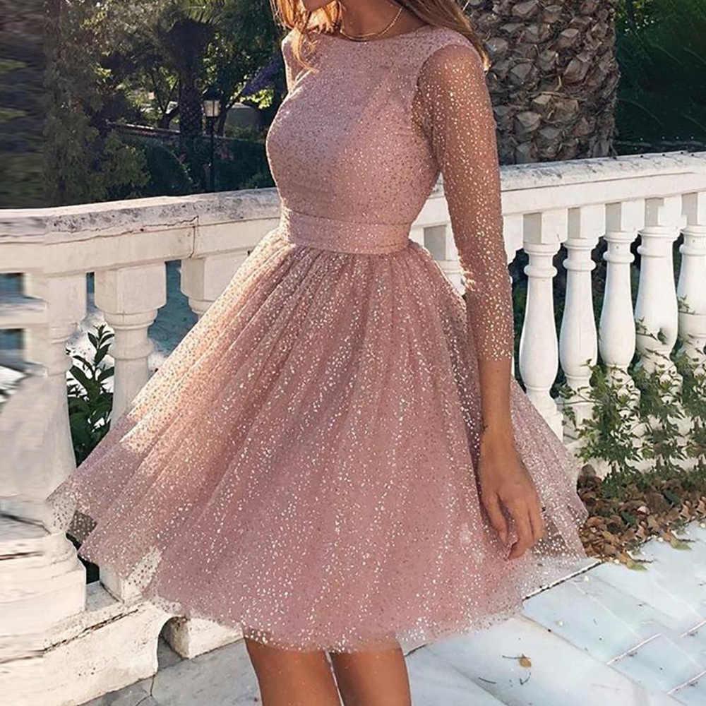 Lace Dresses Women Elegant Backless Sequin Formal Dress For Wedding Party  Gowns Ladies Autumn Fall 8 Dresses vestido D8