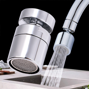 Faucet Nozzle 360 Degree Aerator Swivel Tap Water Saving Brass Sprayer Sink Mixer Connector Flexible Kitchen Hardware Polished