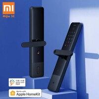 New Xiaomi Mijia Smart Door Lock E Fingerprint Password Bluetooth Unlock Detect Alarm Work Mi Home App Control with Doorbell
