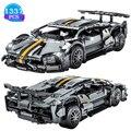 MOC 1337 stücke Technische Experte Super Speed Champions Auto Modell Racing Fahrzeug Bausteine Ziegel DIY Tech Spielzeug Für Jungen