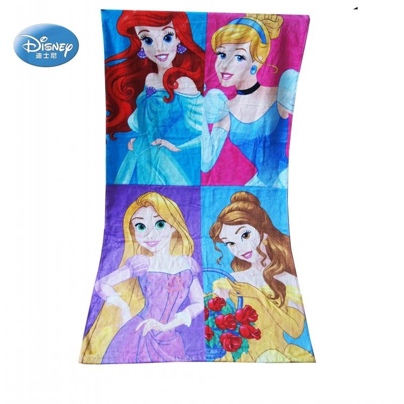 Diskon Disney Princess Cinderella Belle Tangled Rapunzel Clubhouse Gadis Anak Anak Pantai Kolam Renang Mandi Handuk Katun 100 75x150cm Handuk Aliexpress