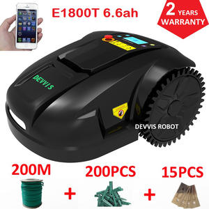 DEVVIS Grass-Cutter Robot Lithium-Battery Blade E1800T Smart with Pegs Intelligent 200m-Wire
