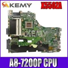 Akemy X550ZA scheda madre Del Computer Portatile per For Asus X550ZA X550ZE X550Z X550 K550Z X555Z VM590Z Prova mainboard originale A8-7200P LVDS/EDP