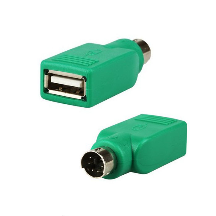 Cable Length: as pic Connectors USB Female in to Male Adapter Converter for PS2 Computer Keyboard Mouse CF Adapter Converters 2PCS