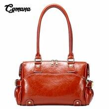 Chic Boston Genuine Leather Handbag Women Vintage Shoulder Bags Female Real Luxury Handbags Designer Messenger Bag