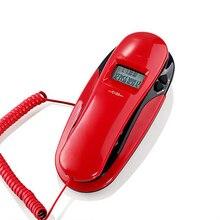 Corded Trimline Telefon Wand Montierbar Festnetz Telefon mit Anrufer ID, Redail, Aufruf & Ausgehenden Überprüfen, Datum, uhr Display