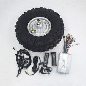 36 v 48 v 350 w 500 w motor elétrico da engrenagem do carrinho de mão todo o terreno carrinho de mão elétrico kit gordura fora da estrada pneu áspero 14.5 polegada