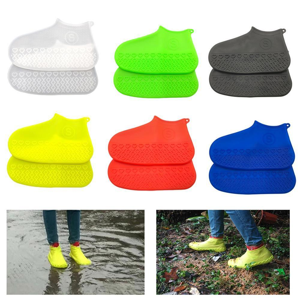 Wear-Resistant Reusable Silicone Overshoes Rain Boots Cover Men Shoes Covers