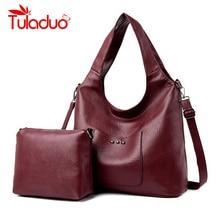 2 Sets Leather Luxury Handbags Women Bags Designer Handbag High Quality Women Shoulder Bag Female Crossbody Messenger Bag недорго, оригинальная цена