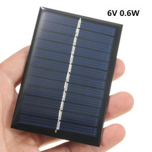 1W Panel Solar 6V for Chargers Cell Phone Power DIY Light Battery Portable Mini Module Toys mbr cell power neck
