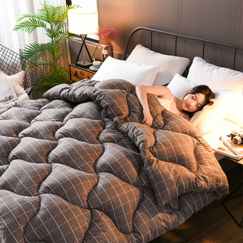 New Fashion 3d Luxury Goose Down Duvet Quilted Quilt King Queen Full Size Comforter Winter Thick Blanket