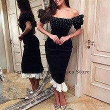 فستان جميل اسود من القطيفه