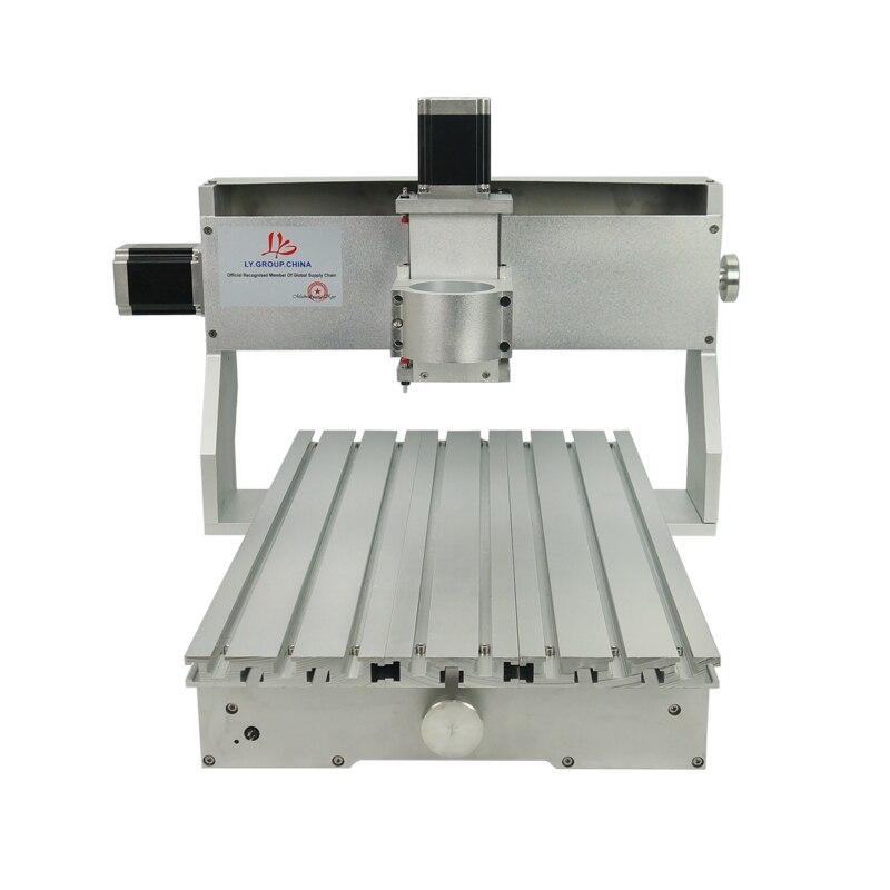 Image 4 - CNC 3040 Rack Engraving Machine Frame 4Axis Kit With Nema23 Stepper Motors CNC Lathe 300x400mm DIY PartsWood Routers   -