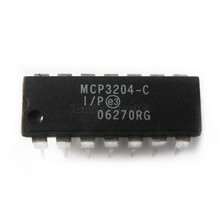 5 pcs/lot MCP3204-CI/P ADC 12BIT 2.7V 4CH SPI 14-DIP MCP3204 3204 MCP3204 3204 MCP320 3204 Meilleure qualité En Stock