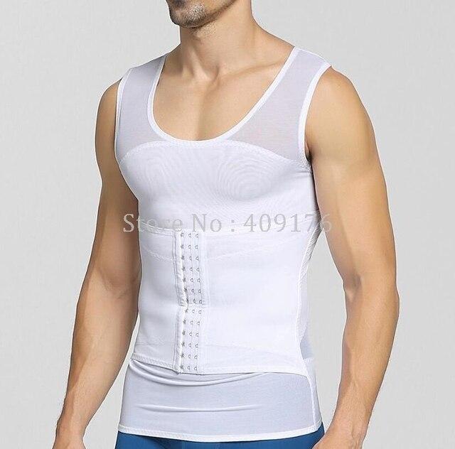 Compression Belly Trimmer Men Posture Corrector Tops Double Control Tummy Trimmer Shaper Control Abdomen Corset 3