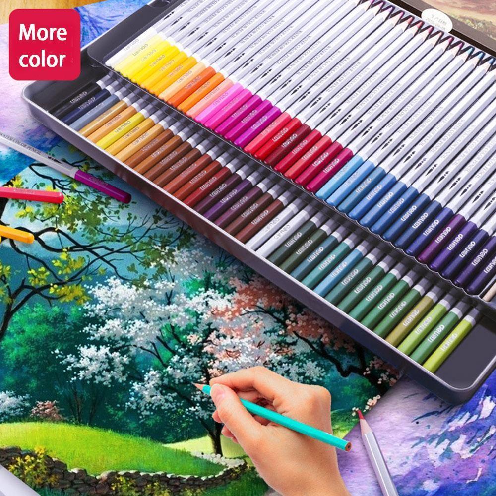 24/36/48 Pcs/set Deli Watercolor Pencils,Watercolor Pencil Art Set, Watercolor, Classic Drawing Set, Brush Lots, Art, 3mm Core