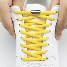 2021 Elastic No Tie Shoelaces Shoe Laces For Kids and Adult Sneakers Shoelace Quick Lazy Metal Lock Laces Shoe Strings