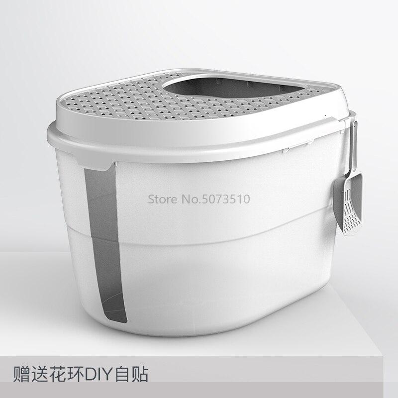 Top-in кошачья песочница полностью закрытый дезодорирующий супер-большой кошачий Туалет с защитой от запаха и брызг - Цвет: Зеленый