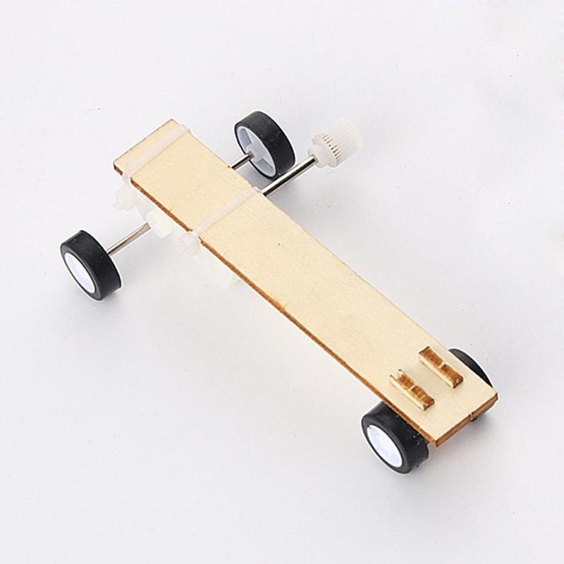 Clockwork Car Materials DIY Craft Toy Projects Science Educational Vehicle Experiment Teaching Equipment Assemble Model Kit