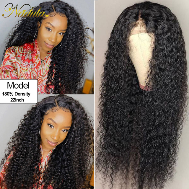 $ US $90.66 Nadula Lace Wig Curly Hair 13x4/13x6 Fake Scalp Lace Front Human Wig With Baby Hair 10-26inch Remy Hair Glueless Lace Wig