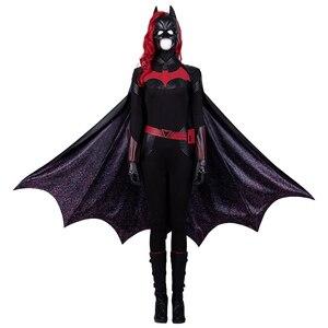 Image 2 - Batwoman Batgirl Cosplay kostüm cadılar bayramı süper kahraman Batgirl tulum Kate Kane kostüm Batwoman seksi Bodysuit Colak Custom Made