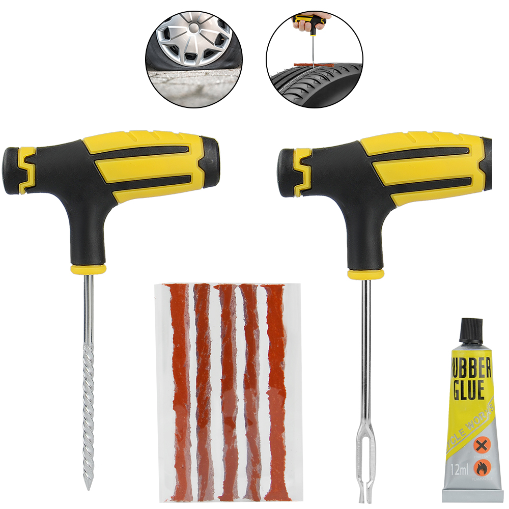 Car Tire Repair Kit Auto Bike Car Tire Tyre Cement Tool Puncture Plug Practical Hand Tools for Car Truck Motorbike(China)