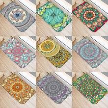 Paillasson Mandala à motifs géométriques, paillasson à la mode, paillasson d'entrée, lavable, pour cuisine, sol de maison, salle de bain