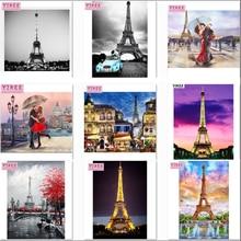 YIKEE diamond painting,frog,diamond embroidery,Eiffel Tower,5d,full,diamond painting cross stitch NEW TOOL