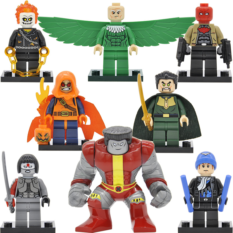 Single Suicide Squad Super Hero Katana Figure Vulture Red Hood Mandarin Buiding Blocks Ghost Rider Boomerang Toys SY631 Legoing