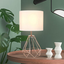 Retro Table Lamp Wrought Iron Simple Diamond Table Lamp Home Decoration Geometric Lighting Bedroom Living Room Lamp Desk Lamp(China)