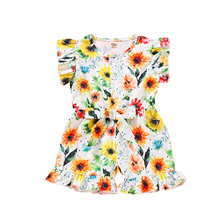 Rompers Shorts Jumpsuit Ruffle Floral-Print Toddler Baby-Girls Children's 1-4years Cute