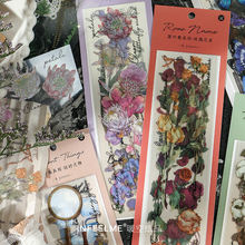 Infeelmepet клейкие бумажные листья серии свежие винтажные ручные