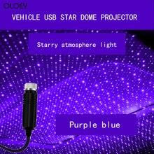 Звездный светодиодный мини-проектор для салона автомобиля, атмосферный лазерный проектор, USB, красный, автоматическое украшение, ночник, ла...