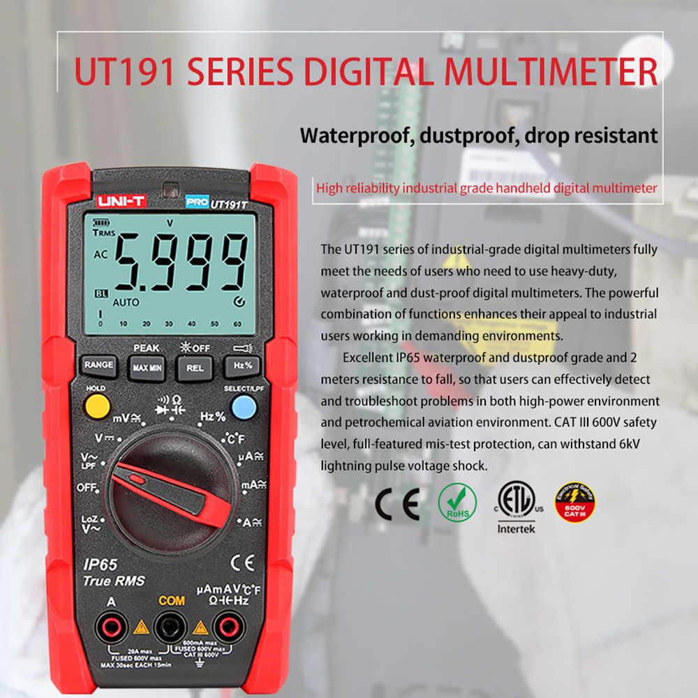 UNI-T 테스터 디지털 멀티 미터 Profesional UT191T UT191E True RMS 자동 범위 NEW