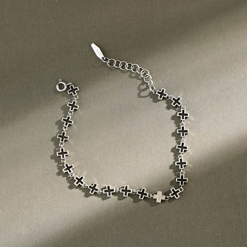 New 2020 Real 925 sterling silver cross ankle bracelet on the leg female , vintage anklets for women foot chain jewelry