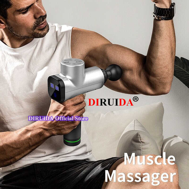 Original LCD táctil nueva pistola de masaje muscular masajeador de tejido profundo pistola de terapia para ejercitar el dolor muscular herramienta para moldear el cuerpo