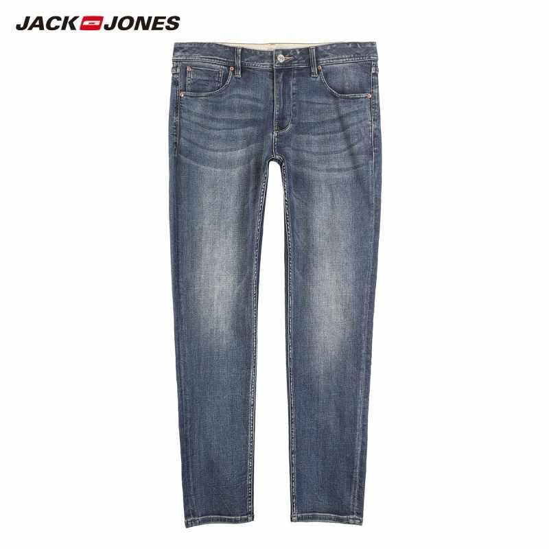 JackJones moda męska Slim Fit Stretch obcisłe nogawki Jeans Basic odzież męska   219132534