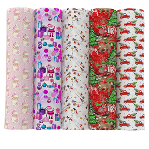David accessories 50*145cm Christmas Polyester & Cotton Fabric Tissue Kids Bedding Home textile for Sewing Cloth Quilty,c12177