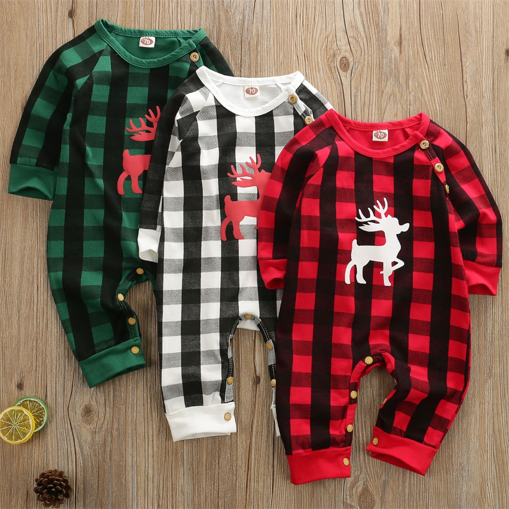 Menglo Brother Sister Matching Christmas Outfits Newborn Baby Boys Girls Romper Red Ruffle Plaid Clothing 1pcs Jumpsuit