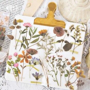 40 Pcs/Lot Fresh Flower Lavender Paper Sticker Decorative Diary Scrapbook Planner Kawaii Stationery School Supplies Papeleria - discount item  22% OFF Stationery Sticker