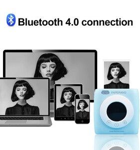 Image 4 - PAPERANG P2s כיס מיני 58mm נייד Bluetooth מדפסת מדפסת צילום HD תרמית תווית מכונה עם שעון מעורר לוח זמנים