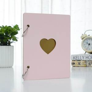 DHL 200pc 6 inch Wooden Photo Album Baby Growth Memory Life Photo Relief Book Craft Record Book