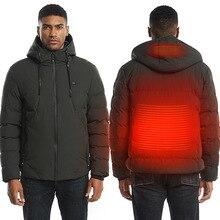Модная мужская и женская куртка с электрическим подогревом, теплый жилет с USB теплым пером,, зимняя куртка размера плюс